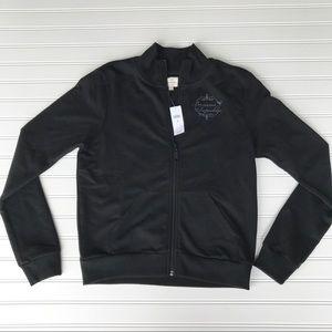 NWT Banana Republic Black Sweatshirt Jacket, M